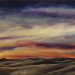 Alamosa Sunset 3 oil on canvas 4 x 60 inches