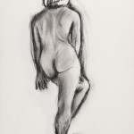 Back, charcoal on archival paper, 14 x 11 inches