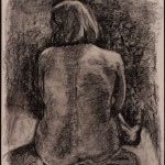 Back, charcoal on archival paper, 24 x 18 inches