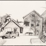 Bucktown, charcoal on archival paper, 22 x 30 inches