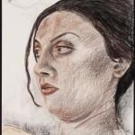 Dana 2, Derwent pencil on archival paper, 24 x 18 inches