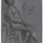 Elizabeth Seated_Derwnt pencil on painted archival bristol
