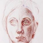 Face, Prismacolor pencil on archival paper, 12 x 9 inchehs