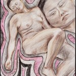 Figure and Head 3, Derwent and Prismacolor pencil on archiva