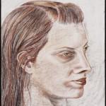 Head, Derwent pencil on archival paper 24 x 19 inches