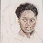 Lativia, Derwent pencil on archival paper, 24 x 18 inches