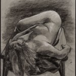 Reclining Nude, charcoal on archival paper, 24 x 18 inches