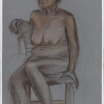 Seated Figure 2 Derwent pencil on painted archival bristol