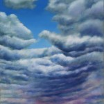 Sky Lake 3 oil on canvas 60 x 36 inches