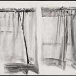 Two Curtains, graphite, 22 x 30 inches