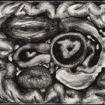 Untitled (Ragdale Residency-1988), charcoal on archival pape